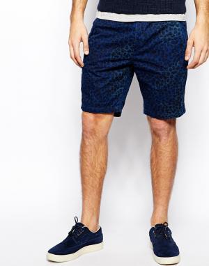 Шорты чиносы с животным принтом Paul Smith Jeans. Цвет: синий