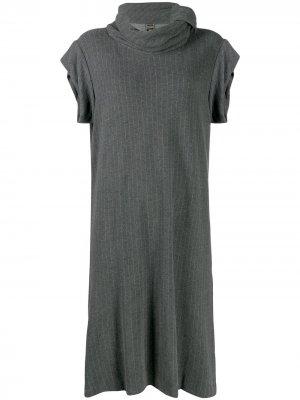 Платье миди 1990-х годов в тонкую полоску Jean Paul Gaultier Pre-Owned. Цвет: серый