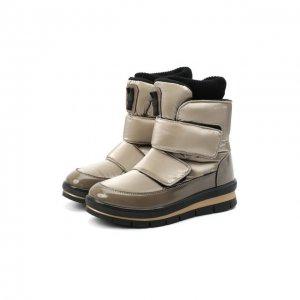 Текстильные ботинки Jog Dog. Цвет: бронзовый
