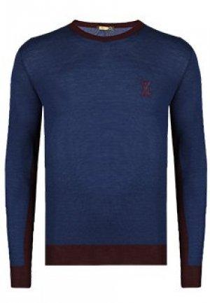 Пуловер ZILLI. Цвет: синий