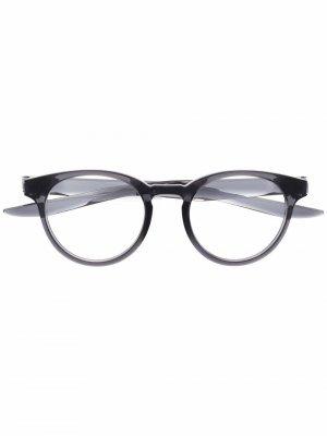 Logo round-frame glasses Nike. Цвет: серый