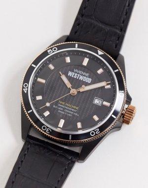 Наручные часы с черным ремешком -Черный Vivienne Westwood