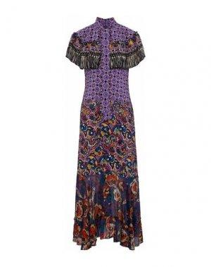 Длинное платье ANNA SUI. Цвет: фиолетовый
