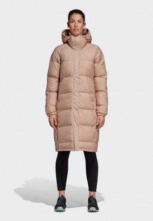 Куртка утепленная adidas W HELIONIC PARK. Цвет: розовый