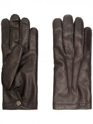 Стеганые перчатки Salvatore Ferragamo. Цвет: коричневый