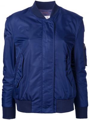 Классическая куртка бомбер Golden Goose Deluxe Brand. Цвет: синий