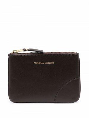 Клатч с тисненым логотипом Comme Des Garçons Wallet. Цвет: коричневый