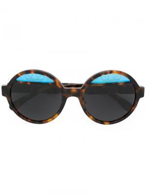 Солнцезащитные очки Adidas x Italia Independent. Цвет: коричневый