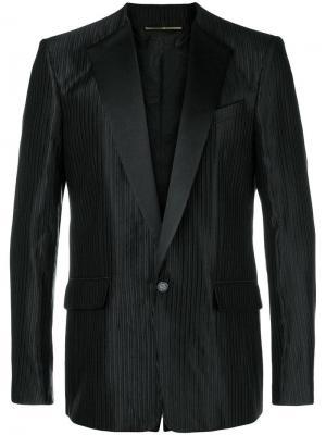 Пиджак-смокинг в полоску Givenchy. Цвет: черный