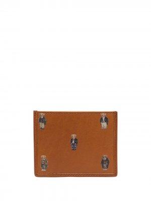 Картхолдер с принтом Polo Ralph Lauren. Цвет: коричневый
