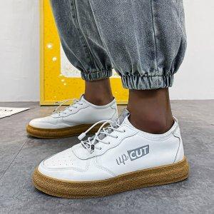Мужская двухцветная обувь для скейтбординга с текстовым рисунком SHEIN. Цвет: белый