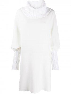 Трикотажное платье с объемными рукавами Gianluca Capannolo. Цвет: белый