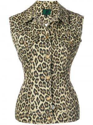 Жилет с леопардовым принтом 1990-х годов Jean Paul Gaultier Pre-Owned. Цвет: желтый