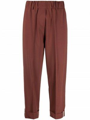 Укороченные брюки Alysi. Цвет: коричневый