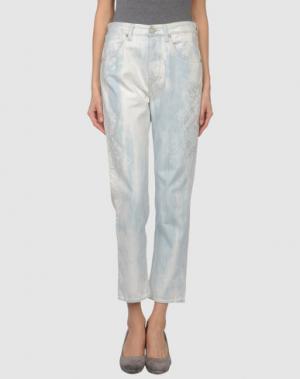 Джинсовые брюки-капри WE ARE REPLAY. Цвет: синий