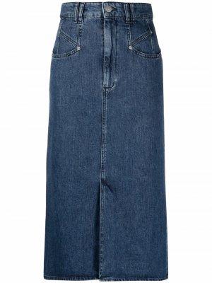 Джинсовая юбка миди Dipoma Isabel Marant. Цвет: синий