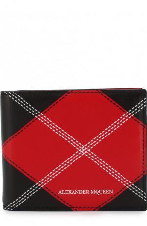 Кожаный зажим для купюр с отделениями кредитных карт Alexander McQueen. Цвет: красный