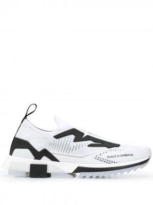 Кроссовки с логотипом Dolce & Gabbana. Цвет: белый