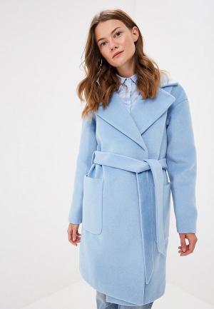 Пальто Vivaldi. Цвет: голубой