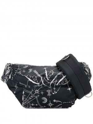 Graphic print belt bag Sacai. Цвет: синий