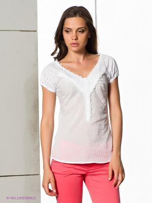Блузка FreshMade. Цвет: белый