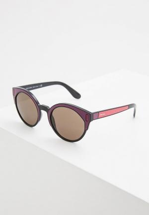 Очки солнцезащитные Prada PR 03US SSA5S2. Цвет: фиолетовый