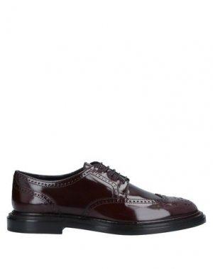 Обувь на шнурках AGL ATTILIO GIUSTI LEOMBRUNI. Цвет: красно-коричневый