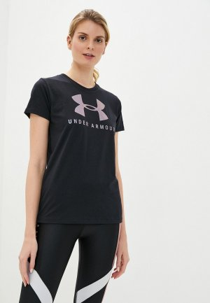 Футболка спортивная Under Armour GRAPHIC SPORTSTYLE CLASSIC CREW. Цвет: черный