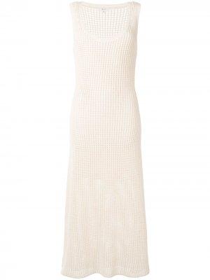 Фактурное платье макси без рукавов A.L.C.. Цвет: белый