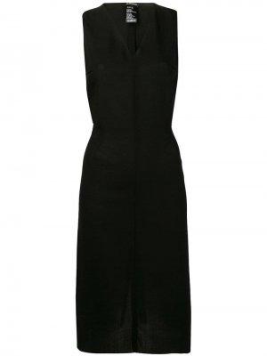 Платье трапеция с V-образным вырезом Ann Demeulemeester. Цвет: черный