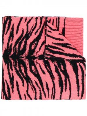 Шарф с анималистичным принтом Laneus. Цвет: розовый