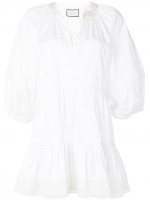 Расклешенное платье Daksha Alexis. Цвет: белый
