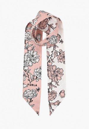 Шарф Furla. Цвет: розовый