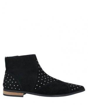 Полусапоги и высокие ботинки ICHI. Цвет: черный