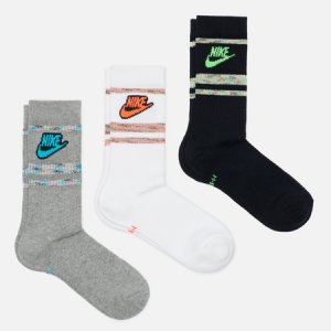Комплект носков 3-Pack Everyday Essentials Crew Nike. Цвет: комбинированный