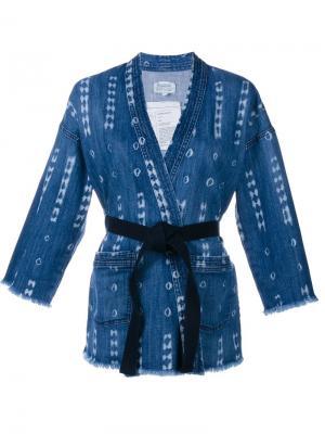 Printed Denim Kimono Jacket Current/Elliott. Цвет: синий
