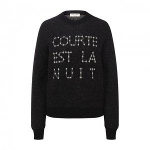 Пуловер Saint Laurent. Цвет: чёрный