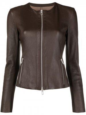 Fitted zipped jacket Drome. Цвет: коричневый