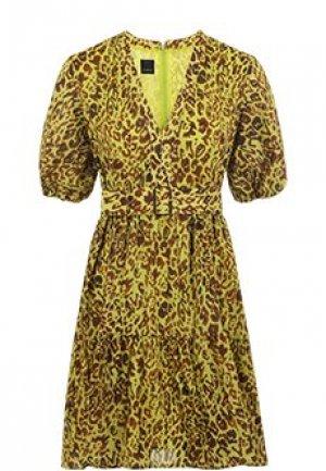 Платье PINKO. Цвет: зеленый