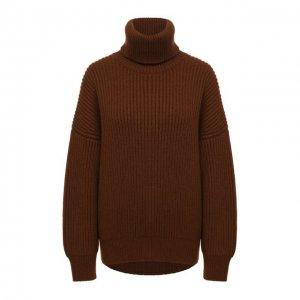 Кашемировый свитер Dolce & Gabbana. Цвет: коричневый
