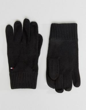 Перчатки с добавлением кашемира Tommy Hilfiger. Цвет: черный