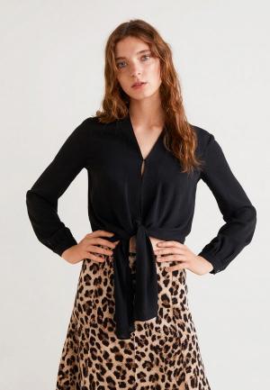 Блуза Mango - LENKO. Цвет: черный