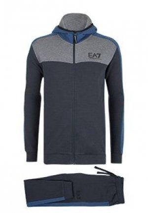 Спортивный костюм EA7. Цвет: синий