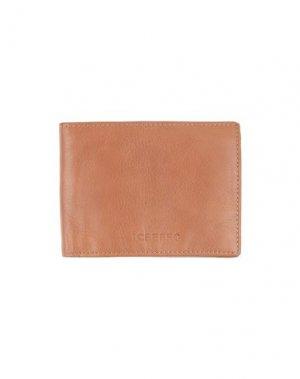 Бумажник ICEBERG. Цвет: желто-коричневый