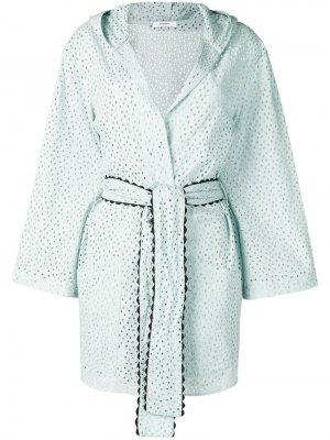 Пальто с вышивкой Marysia. Цвет: синий