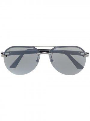 Солнцезащитные очки-авиаторы Cartier Eyewear. Цвет: черный