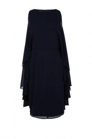 Шифоновое платье Apart. Цвет: темно-синий