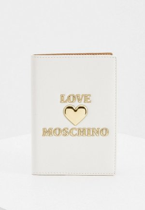 Обложка для паспорта Love Moschino. Цвет: белый