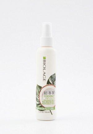Спрей для волос Matrix мультифункциональный уход Biolage All-in-one, Кокосовый флюид, 150 мл. Цвет: прозрачный