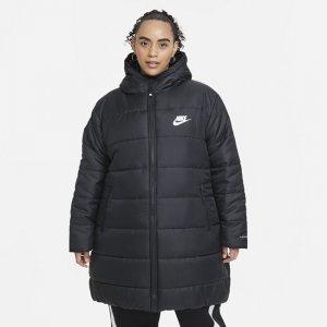 Женская парка с капюшоном Sportswear rma-FIT Repel (большие размеры) - Черный Nike